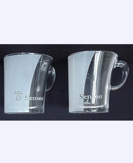 2 original senseo design glastassen kaffeepads pads ebay. Black Bedroom Furniture Sets. Home Design Ideas